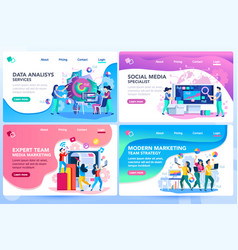 Website tutorial templates vector
