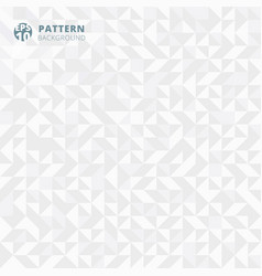 abstract pattern of geometric shapes white and vector image vector image