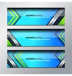 business banner modern design vector image
