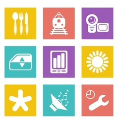 Color icons for Web Design set 50 vector image vector image