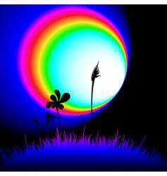 funky grass at night vector image vector image