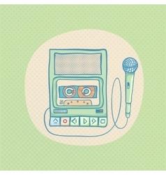 Handheld tape recorder vector image