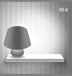 lamp on the shelf vector image