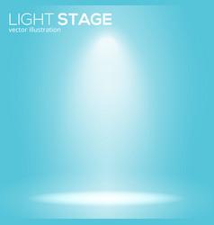 white bean light on round scene spotlight stage vector image