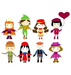 cartoon drawings of children vector image
