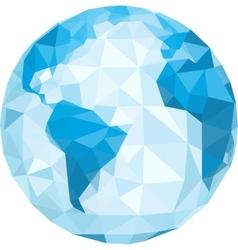 polygonal globe vector image