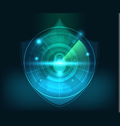 abstract technology network security background vector image