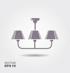 chandelier flat icon vector image