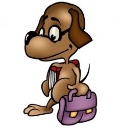 dog schoolboy vector image