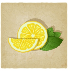Old background with lemon vector