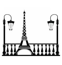 Paris street walkway vector