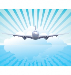 aircraft in the sky vector image