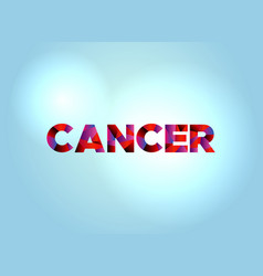 cancer concept colorful word art vector image vector image