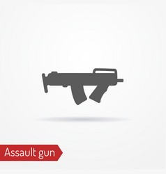 compact assault weapon line icon vector image