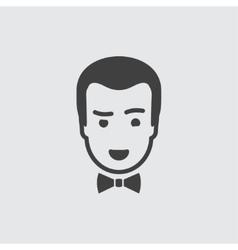 Croupier icon vector image vector image