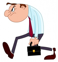 disappointed businessman vector image vector image