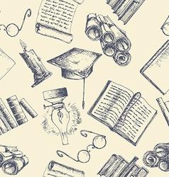 Education sketch background vector