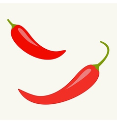 Hot Red Chili Jalapeno Pepper Icon set Isolated vector image