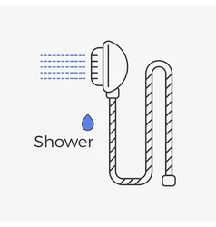 Shower thin line icon vector image vector image
