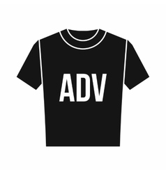 T-shirt with print ADV icon simple style vector image vector image