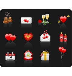 valentine day black background vector image vector image