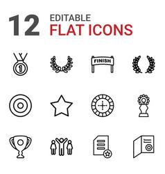 12 winner icons vector