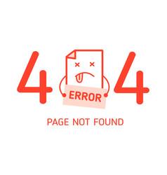 404 error with character error design template vector image