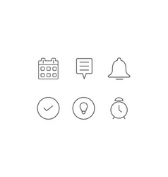 6 alerts and notifications icons vector