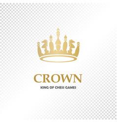 A big golden crown vector