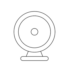 Audio speaker icon outline style vector image