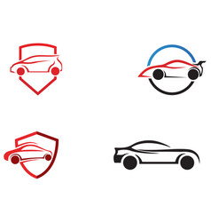 auto car logo template icon vector image