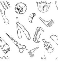 barbery shop hand drawn vector image