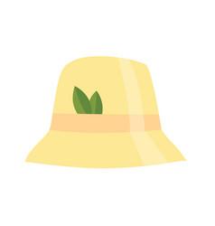 bath house sauna hat icon item for pleasure vector image
