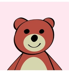Bear Funny cartoon animal toy vector image