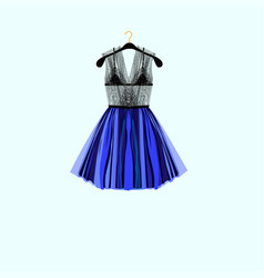 beautiful party dress vector image