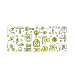 Bitcoin minimal colorful banner - crypto vector
