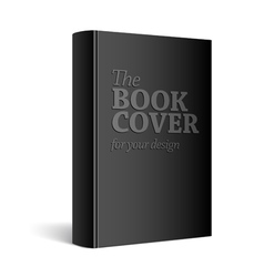 Black Realistic Blank book cover vector image