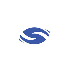 blue s logo stylized letter icon vector image