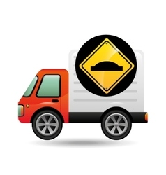 Bump traffic sign concept vector