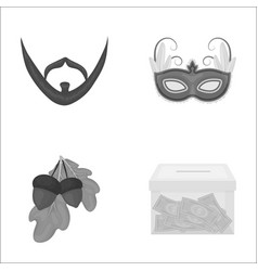 Business bank nature and other monochrome icon vector