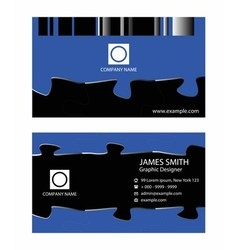 Business card template design set vector image