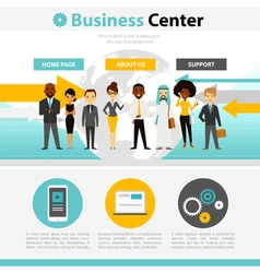 Business Training Web Page Infographics vector