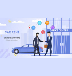 car rent office center lease contract help road vector image