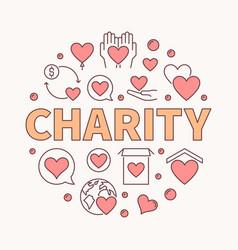 Charity round creative - round vector