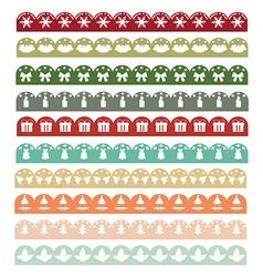 Christmas Borders1 vector image