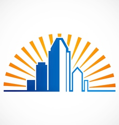 City modern building logo vector