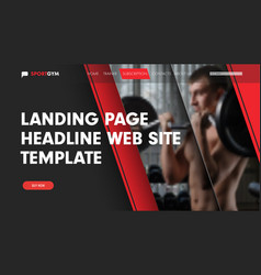 Design landing page for the site with a place for vector