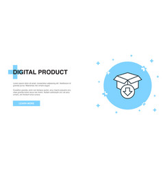 digital product icon banner outline template vector image