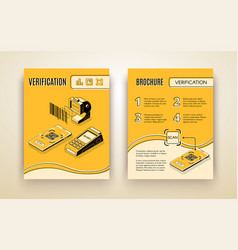 digital verification business service flyer vector image