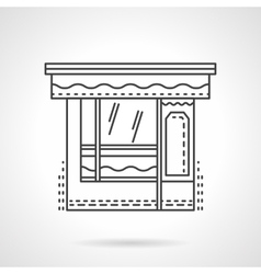 Dishes shop flat line design icon vector